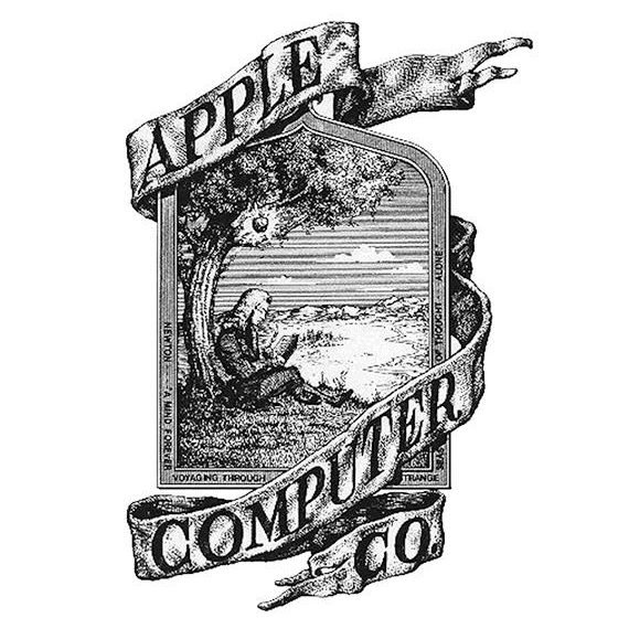 El logotipo original de Apple