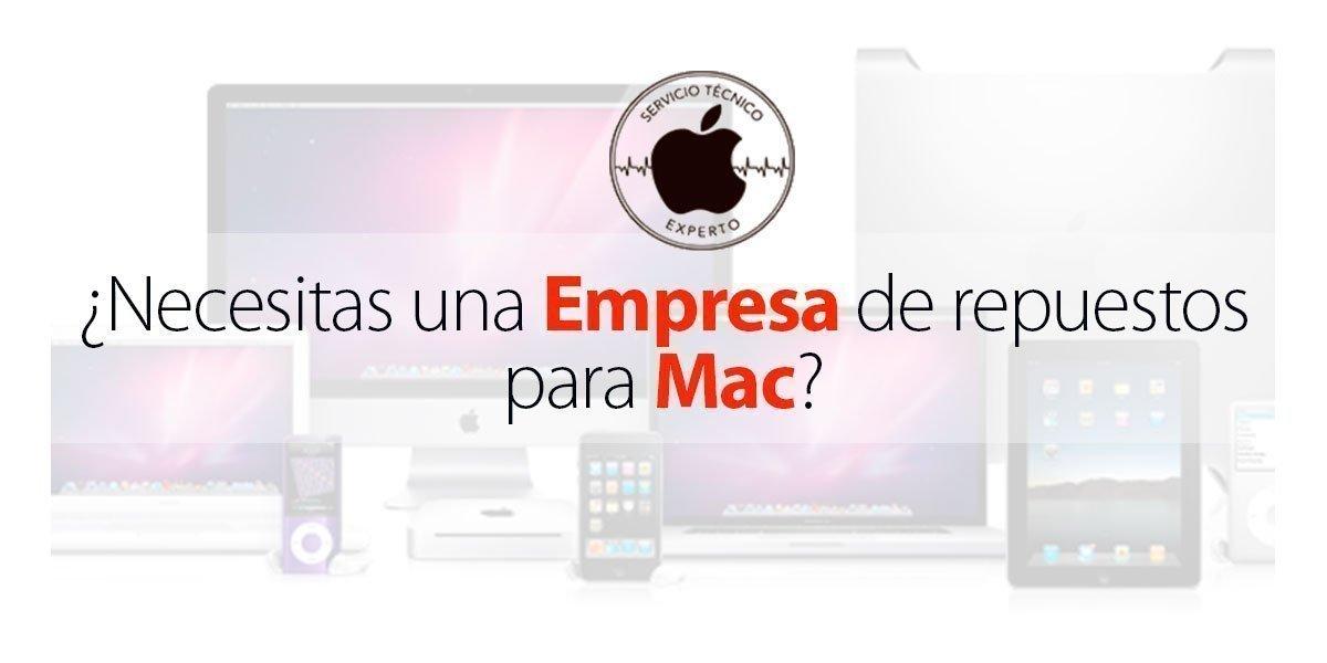 Empresa de repuestos para Mac