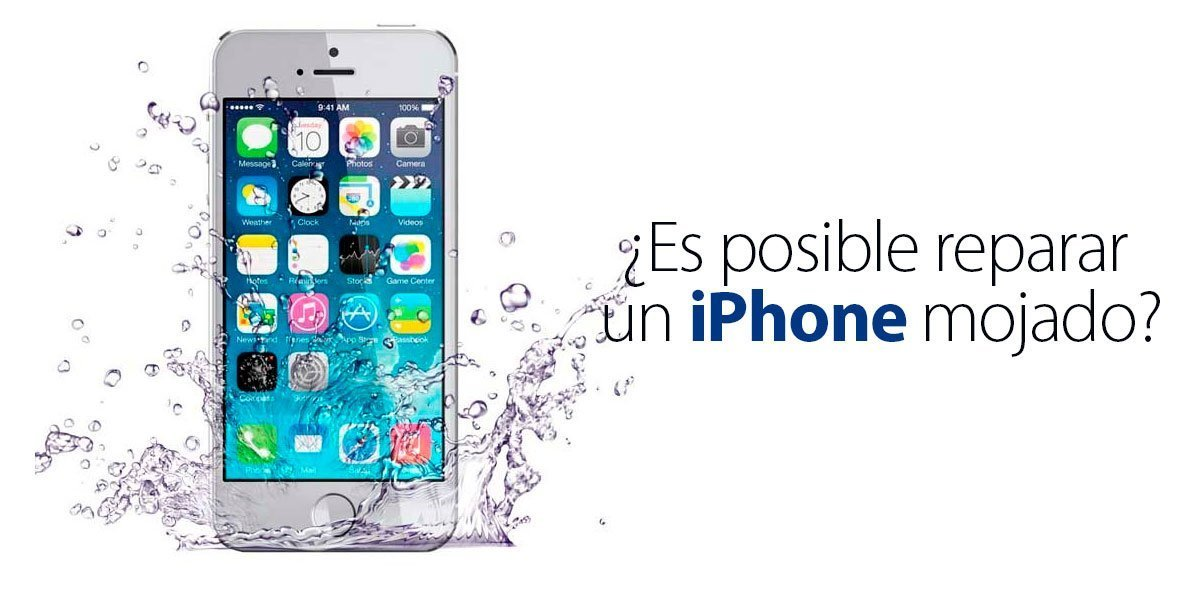 reparar un iPhone mojado